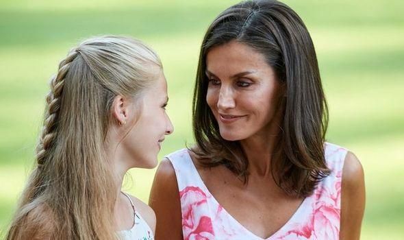 Queen Letizia and daughter Leonor
