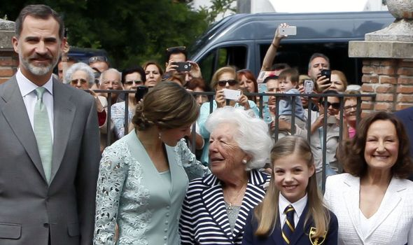 Queen Letizia and her grandmother Menchu