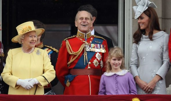 Queen, Prince Philip, Lady Louise Windsor & Kate