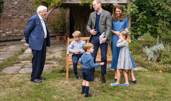Picture of the royal family and David Attenborough