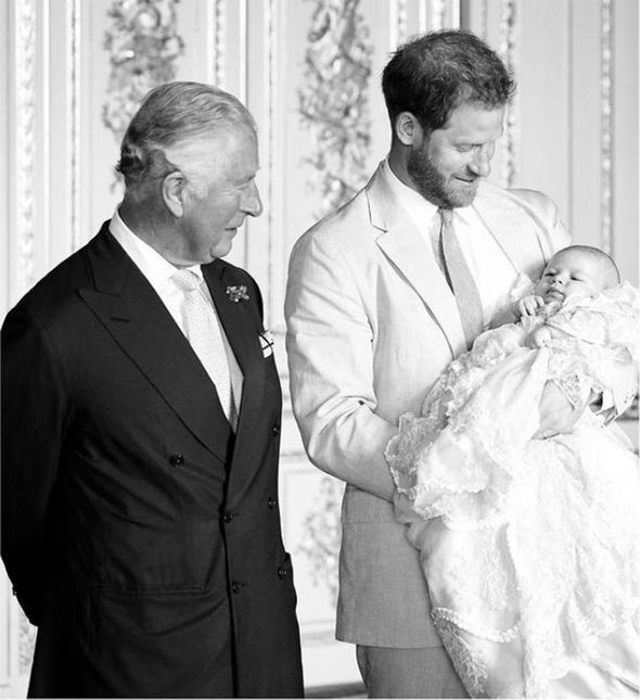 Prince Charles, Harry and Archie