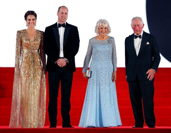 Royals at James Bond premiere
