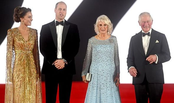 Royals steal the show at the James Bond premiere