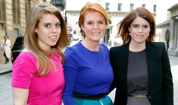 Sarah Ferguson and her daughters