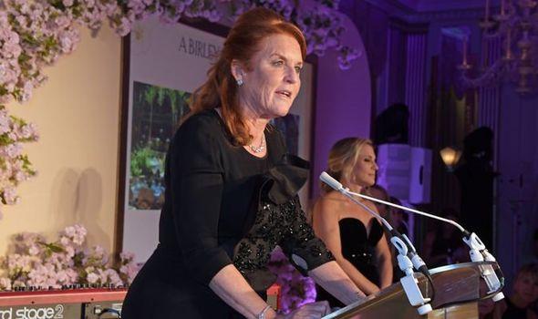 Sarah Ferguson doing a speech