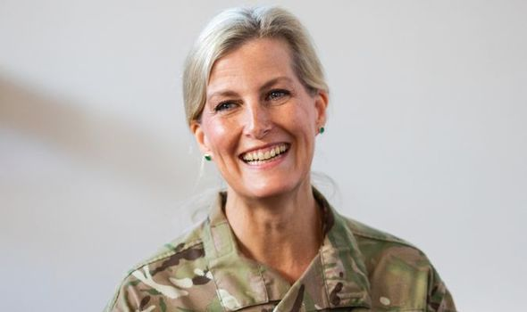 Sophie, Countess of Wessex snapped gaming during annual military competition at RAF base