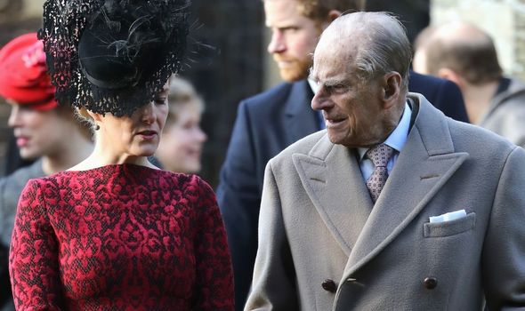 Sophie, Countess of Wessex with Prince Philip