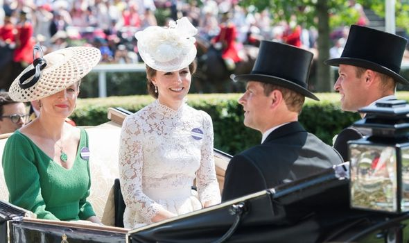Sophie and Edward with William and Kate