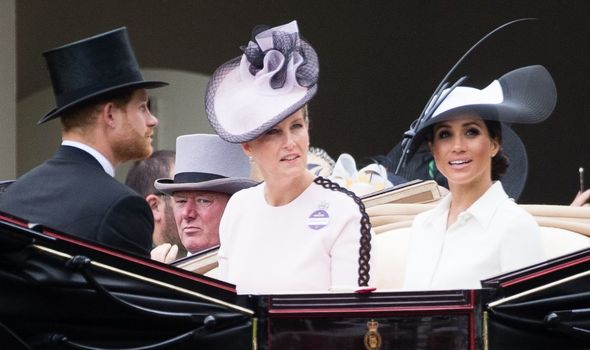 Sophie with Meghan and Harry
