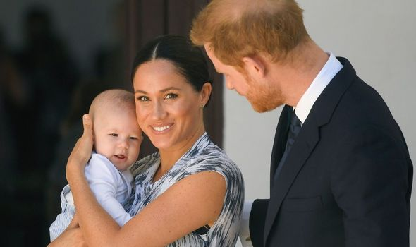 Sussexes: Harry and Meghan with their son Archie
