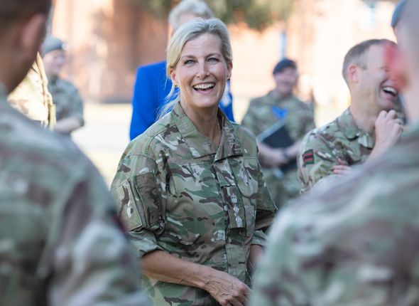 The Countess of Wessex's appearance at RAF Wittering marked the royal's return to regal duties after her annual summer break.