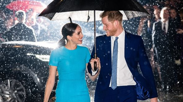 This marks the first time Meghan and Harry pose together for a magazine cover shoot