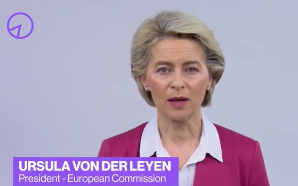 Ursula von der Leyen also made an appearance in the video