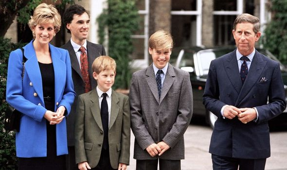 William and Harry at Eton.