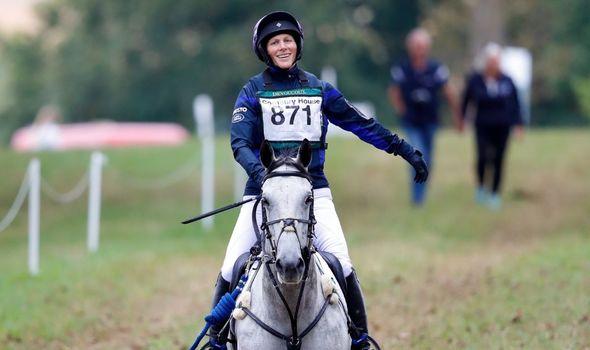 Zara Tindall competing