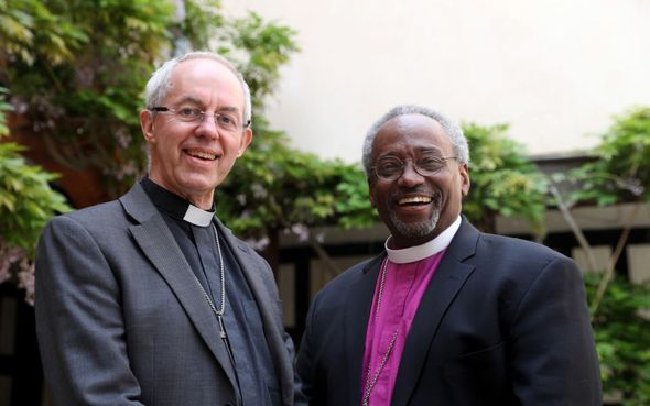 American bishop Michael Curry with Justin Welby
