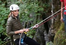 Kate went abseiling with the Air Cadets