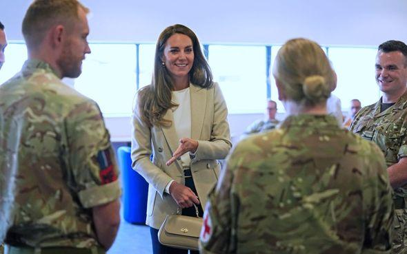 Kate visited RAF Brize Norton on September 15