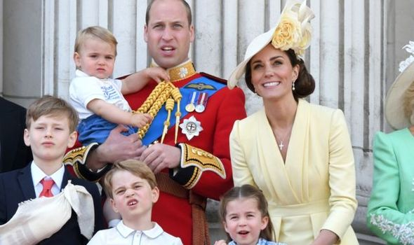 Kate has taken time off to be with her children