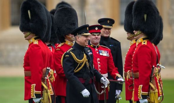 Prince Andrew has remained Colonel of Grenadiers