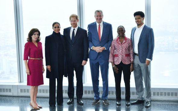 Prince Harry and Meghan at One World Trade Centre