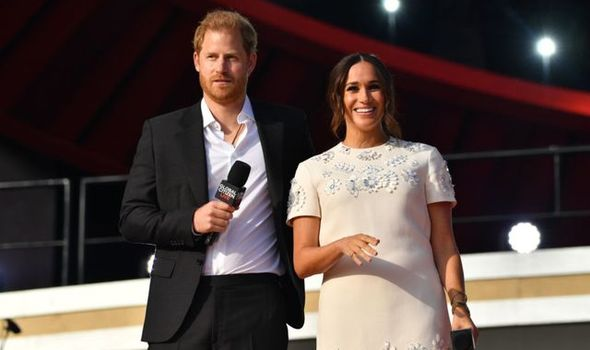 Prince Harry and Meghan attended the concert