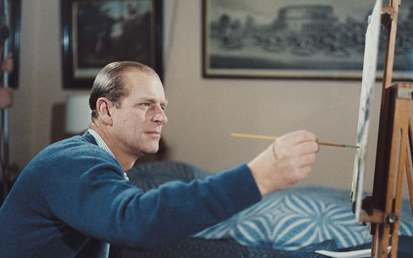 Prince Philip was fond of painting
