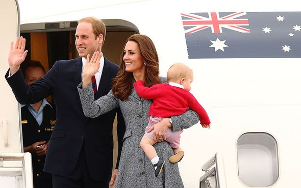 Prince William and Kate in Australia in 2014