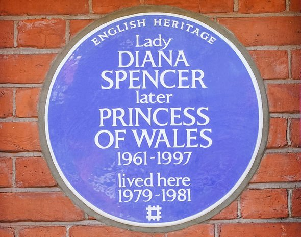 General view of the new English Heritage blue plaque to Diana, Princess of Wales, outside Coleherne Court, Old Brompton Road, London. Picture date: Wednesday September 29, 2021