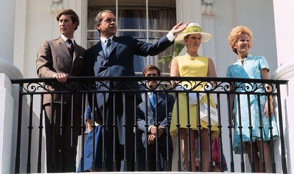Princess Anne and Prince Charles in Washington