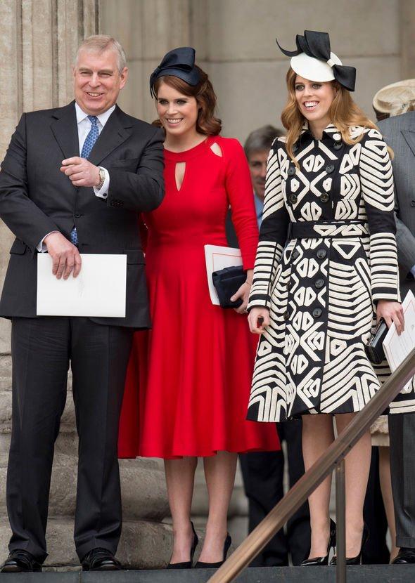 Prince Andrew, Eugenie and Beatrice