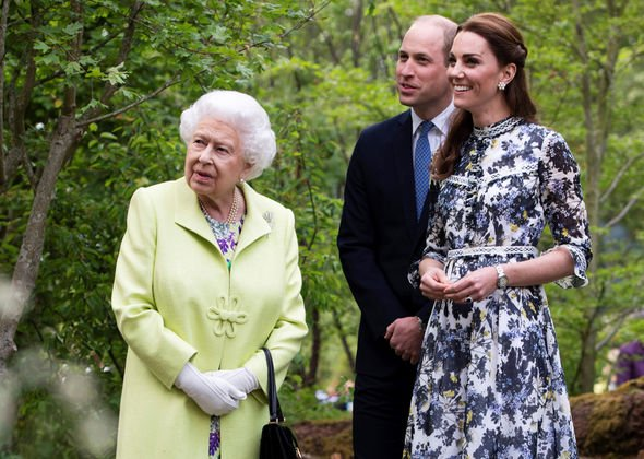 The Queen, Prince William and Kate Middleton