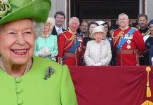 Queen and Royal Family at Trooping the Colour