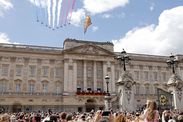 Red Arrows at Trooping the Colour