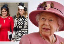 Queen, Princess Beatrice and Princess Eugenie