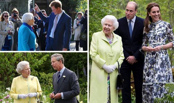 Royal Family at Chelsea Flower Show