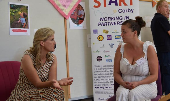 sophie wessex prince edward news visit Northamptonshire royal family news