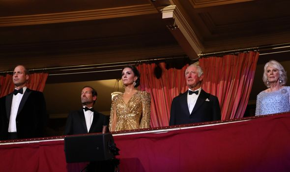 the Royal Family at the Bond premiere
