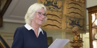Camilla, the Duchess of Cornwall at the Reading Room event