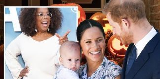 Harry, Meghan and Archie with Oprah Winfrey