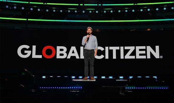 Harry latest: The Duke pictured giving a speech at a Global Citizen event earlier this year