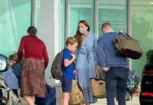 KATE and Prince William have been spotted at Heathrow Airport