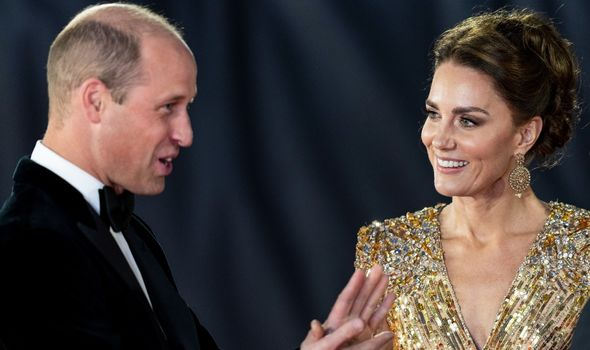 Kate and William at Bond premiere