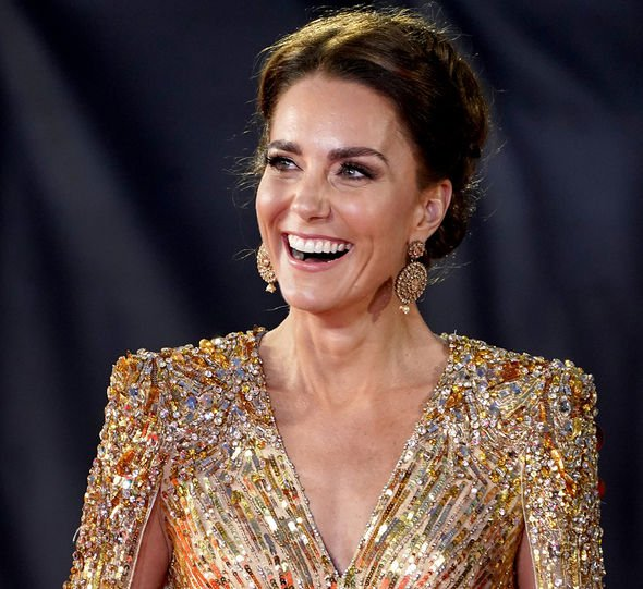 The Duchess of Cambridge attending the World Premiere of No Time To Die, at the Royal Albert Hall in London. Picture date: Tuesday September 28, 2021