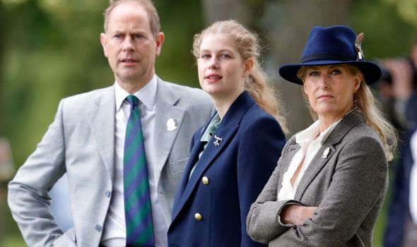 Lady Louise: With parents, Edward and Sophie