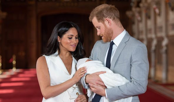 Meghan and Harry with Archie