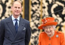 Prince Edward accompanied the Queen today