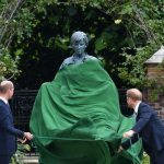 Prince Harry and William unveil Princess Diana statue
