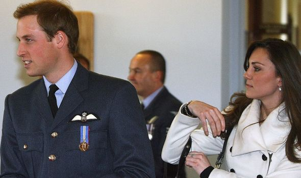 Prince William with Kate while serving in the Armed Forces