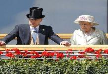 Prince Andrew with Queen Elizabeth